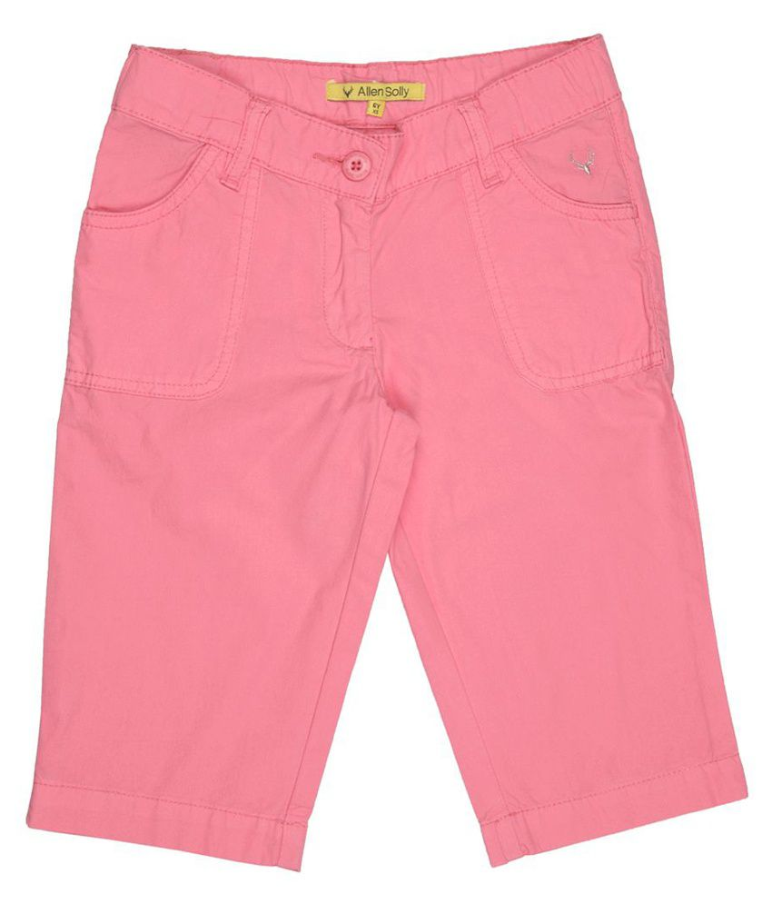 Allen Solly Pink Capris  For Girls