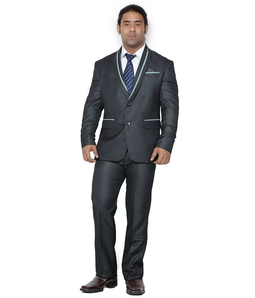 Gray Semi-Formal Designer Suit