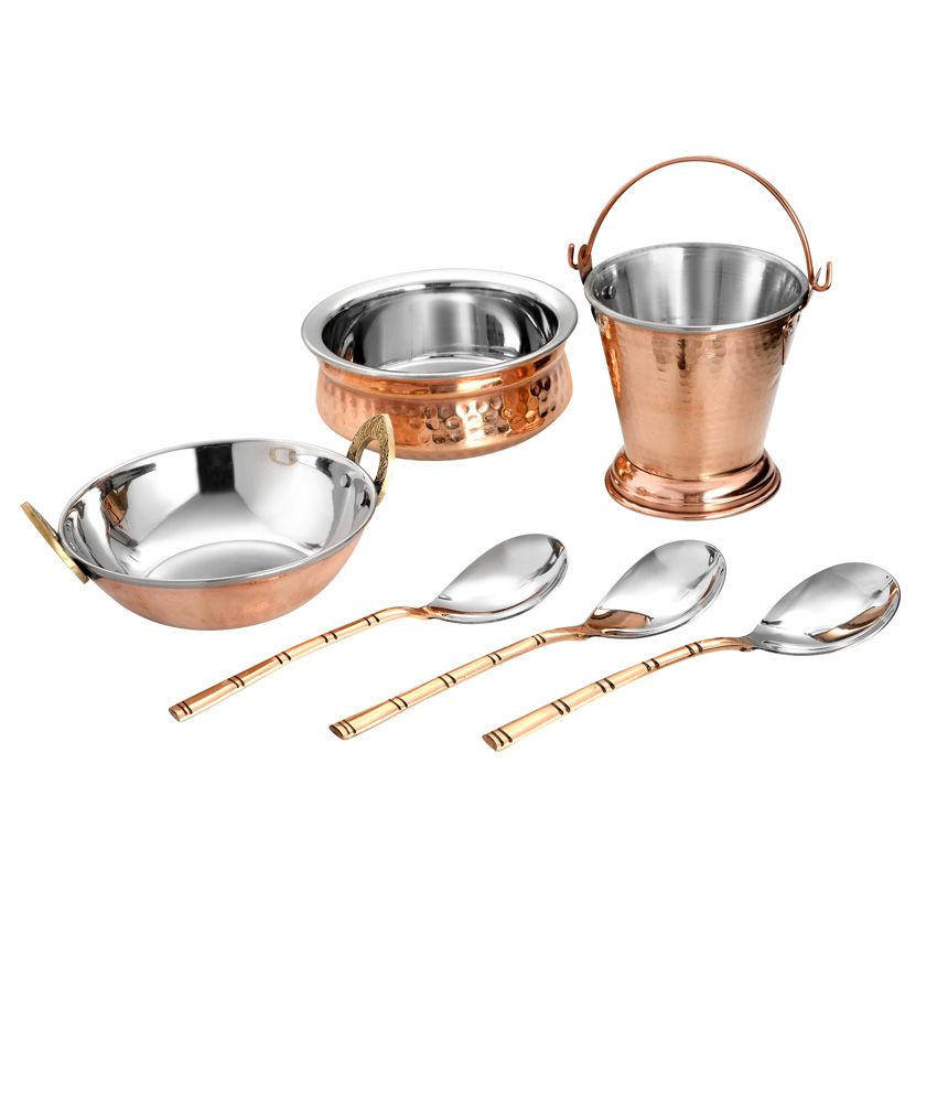 dinner set large 6 pc set wall hand hammered buy online at best