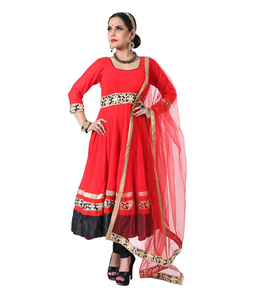 Ethnic Route Red + Black Suits