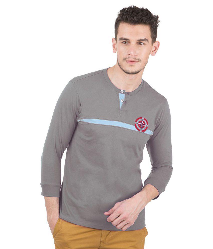 Freecultr Gray Cotton  T-Shirt