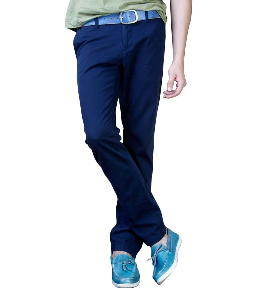 Freecultr Navy Slim Casuals