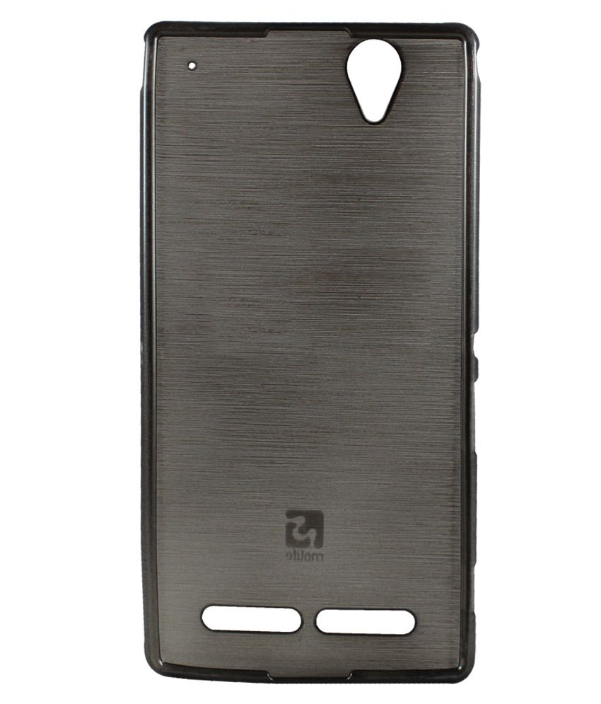 new styles f450a 20c26 Molife Back Cover Cases For Sony Xperia T2 Ultra / T2 Ultra Dual - Grey  With Screen Guard