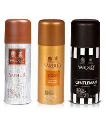 Yardley Arthur Body Spray Men 150 ml + Yardley Gold Deodorant Men 150 ml + Yardley Gentleman Deodorant Spray Men 150 ml