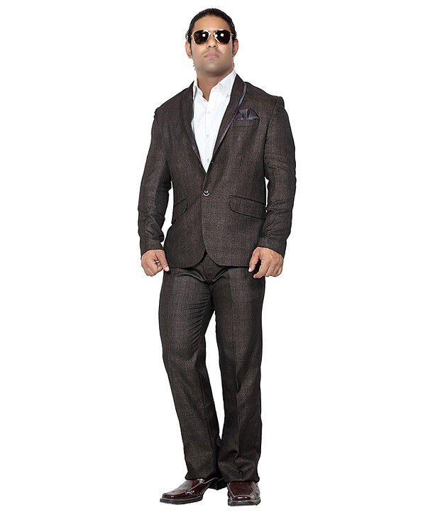 Canary London Brown Cotton Blend Suit Lengths