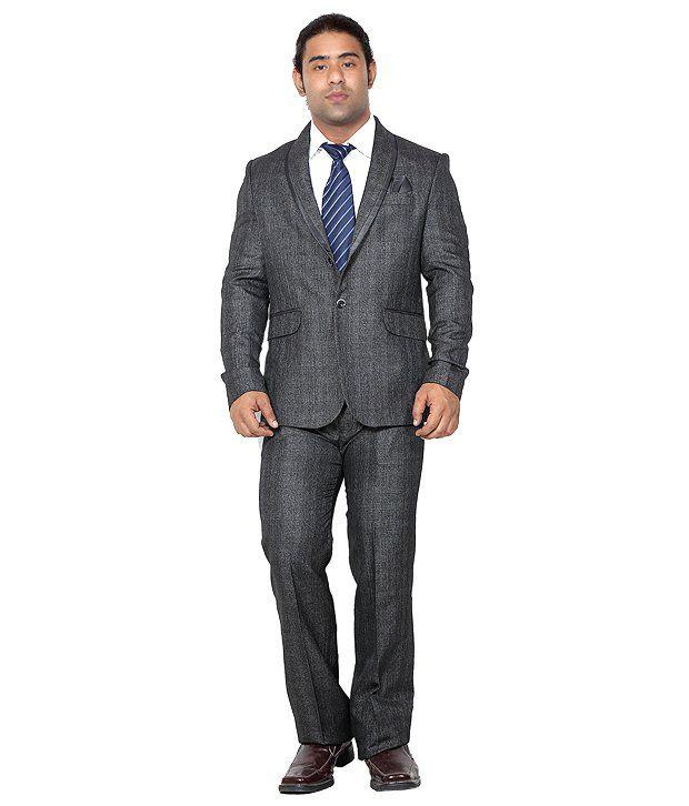 Canary London Gray Cotton Blend Suit Lengths