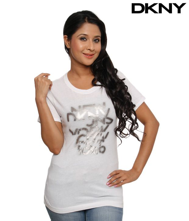 DKNY Attractive White T-Shirt