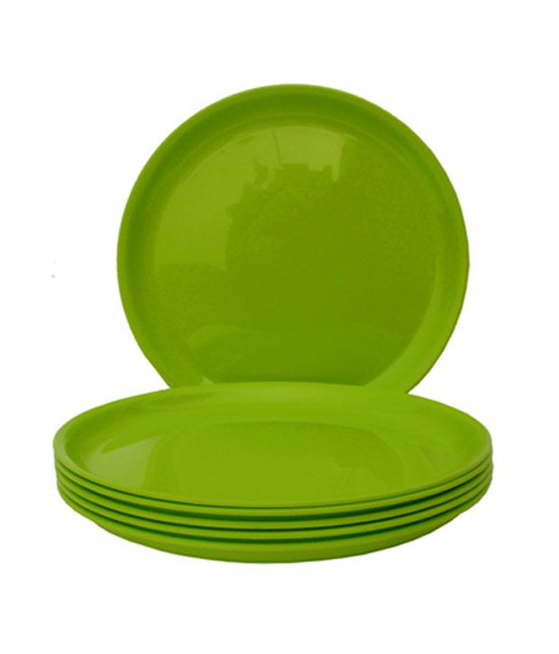incrizma lime green round dinner plates 6 pcs buy online at best