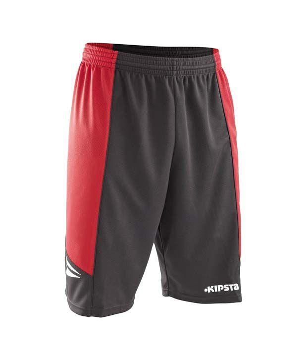 Kipsta EVO Short Black Red Basketball Apparel 8220903