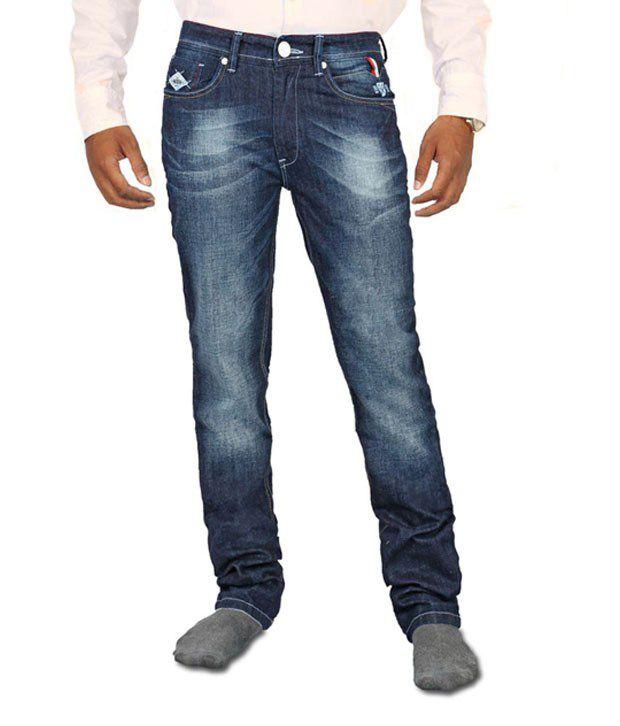 Afford Blue Cotton Jeans