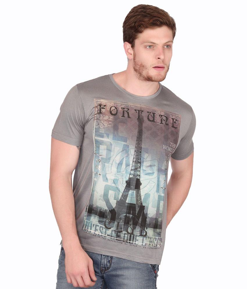 Fritzberg Cotton Blend Half Printed T-shirt