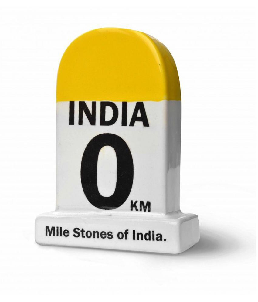 Happily Unmarried Yellow and White Ceramic India Lifetime Milestone Paper Weight