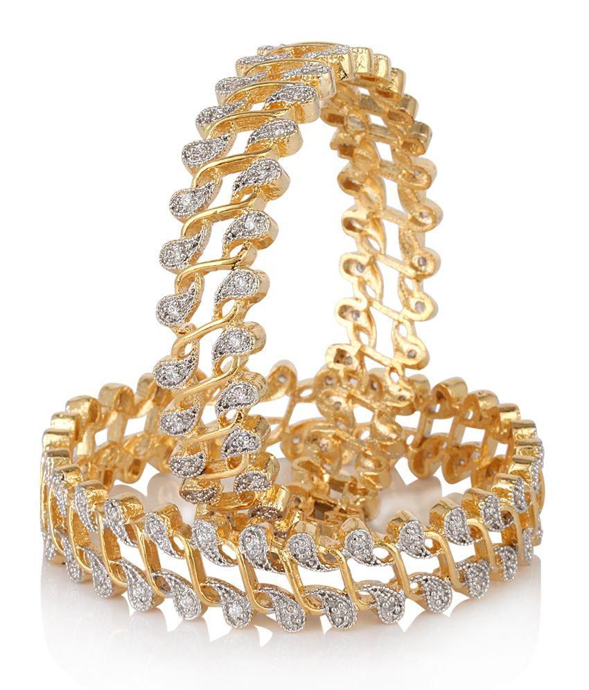 Muchmore Awesome Multi Color Swarovski Element Design Diamond Look Bangles For Women Jewelry BZ5AtTG