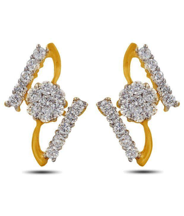 Artistic Diamond Earrings By P.N.Gadgil