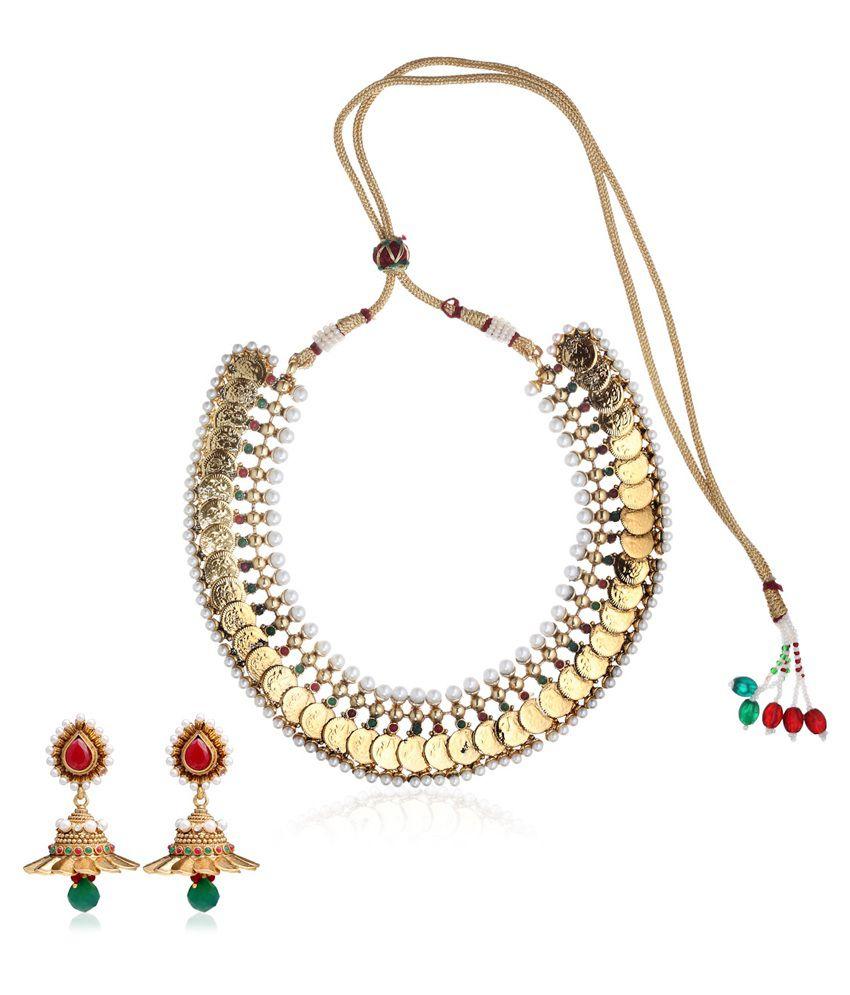 Mrigya Gold Ginni Necklace Set