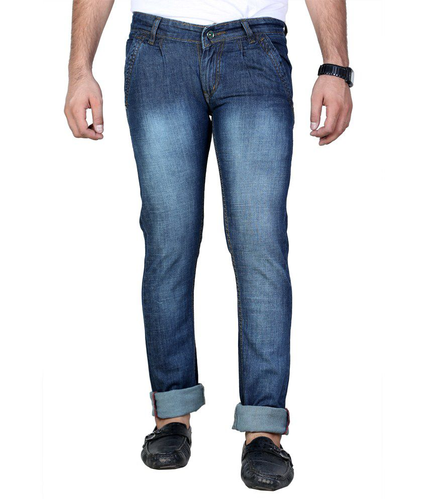 Shade-X Blue Men's Stretchable Denim Cafe