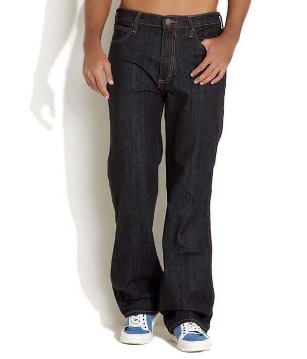 Wrangler Black Regular Jeans
