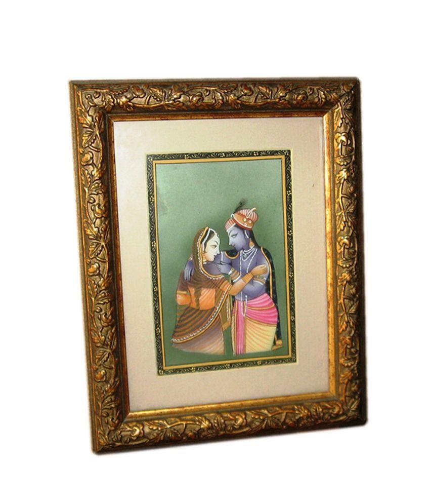 Icb Radha Krishna 2 Painting On Marble