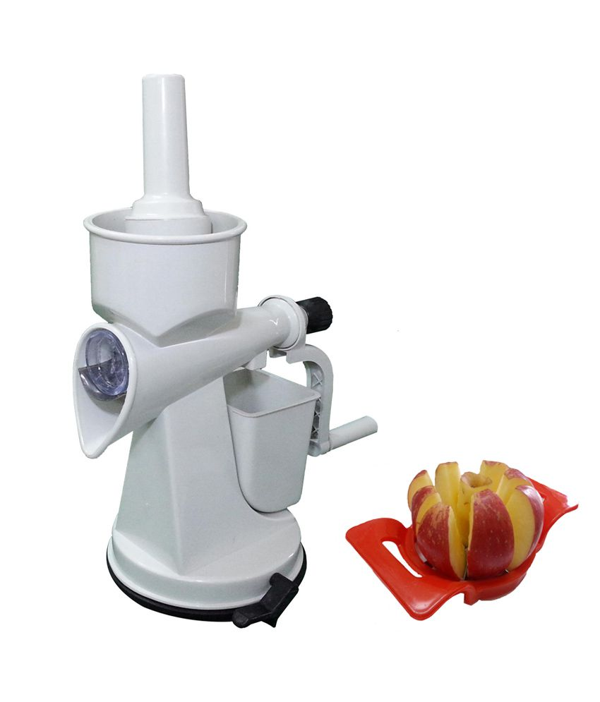 Kitach Combo Of Hand Operated Fruit Juicer With vaccum Base And Apple Cutter: Buy Online at Best ...