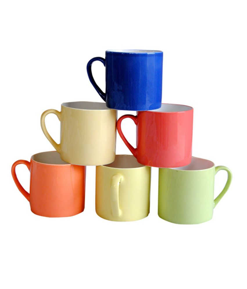 pearl multicolor tea u0026 coffee mugs set