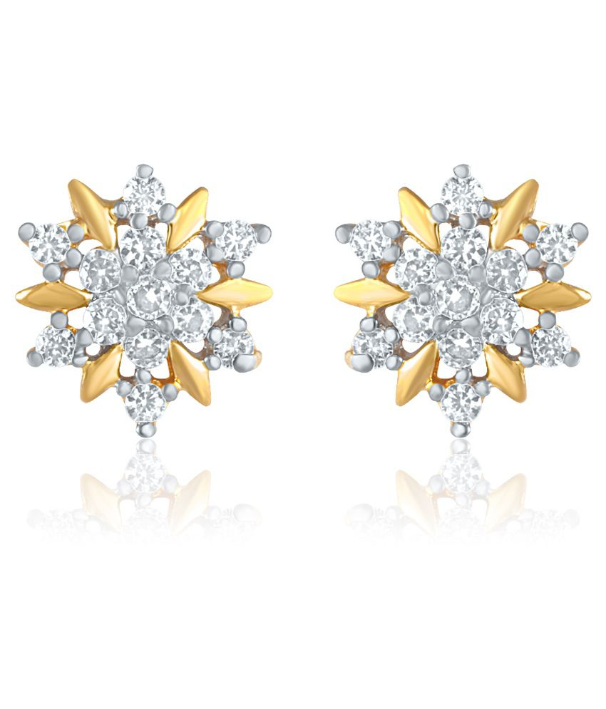 Mahi Gold Plated Star stud earring for women ER1109175G