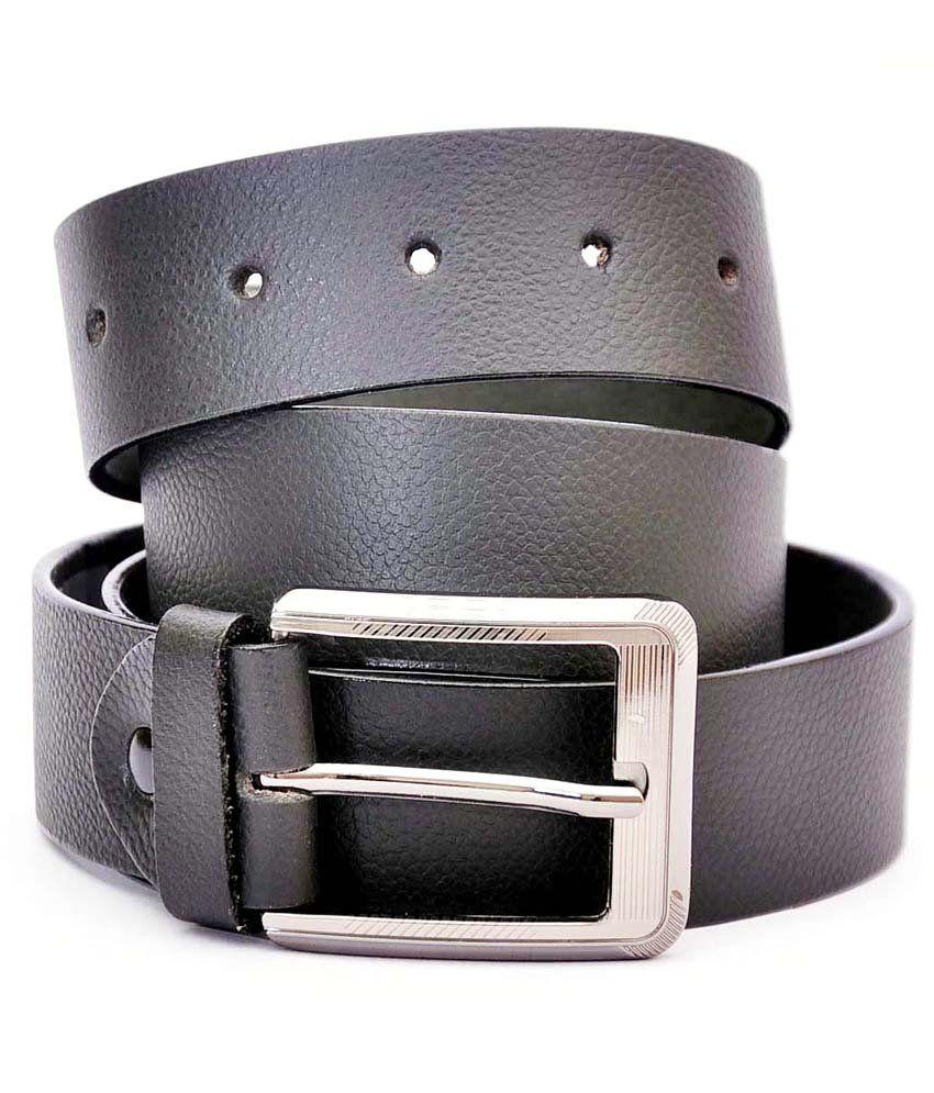 A&G Black Formal Single Belt ForMen No