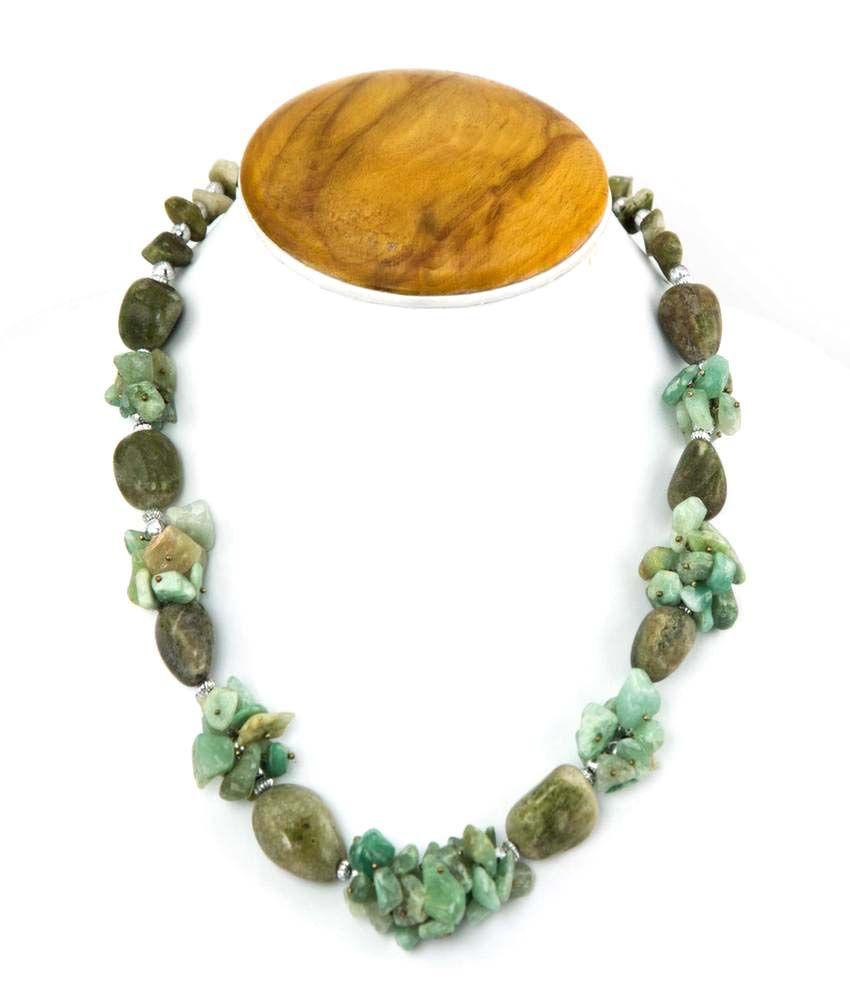 Ambika Jewels Greenish Color Tumble Necklace