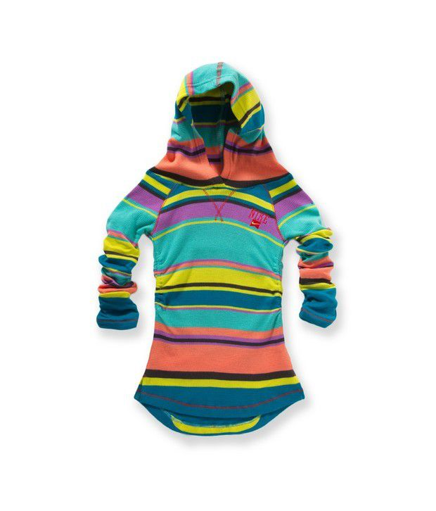 Nike Action Tropical Teal Color Sweat Shirt For Girls