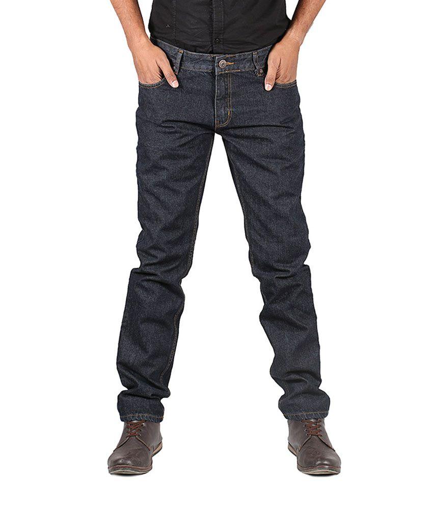 Afford Jeans Blue Cotton Slim Men Jeans