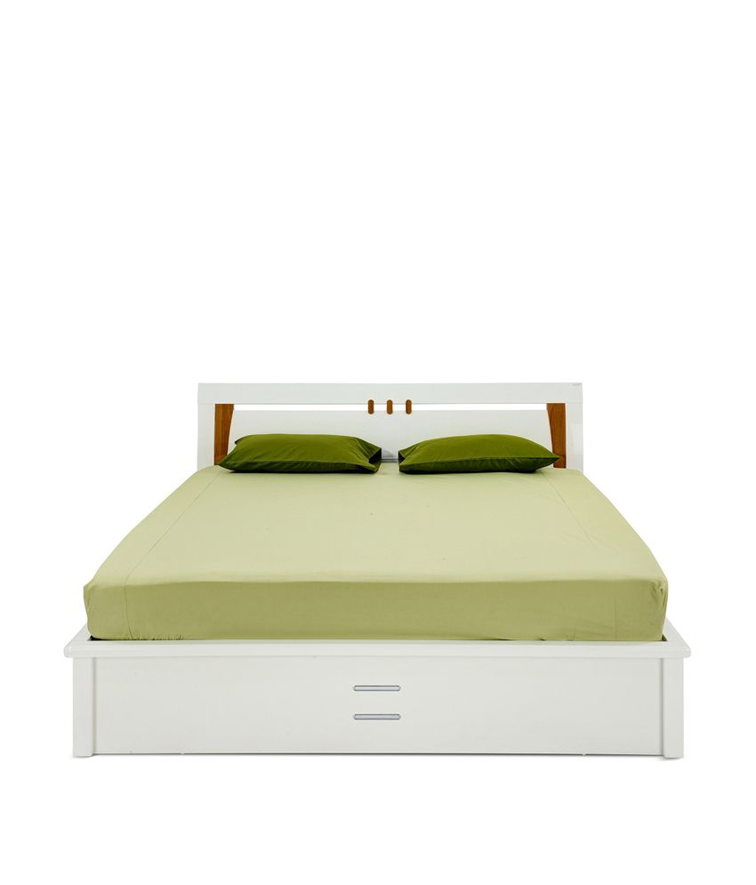 indian bedroom furniture catalogue%0A     Royaloak Olive Hydraulic Storage Bed King With White Finish