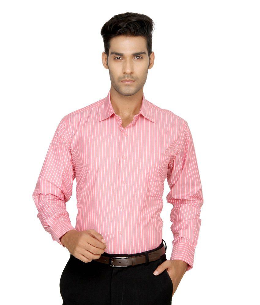 Devaa Pink Wrinkle Free Shirt