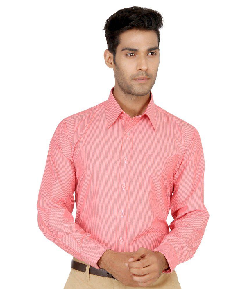 Devaa Red Wrinkle Free Shirt