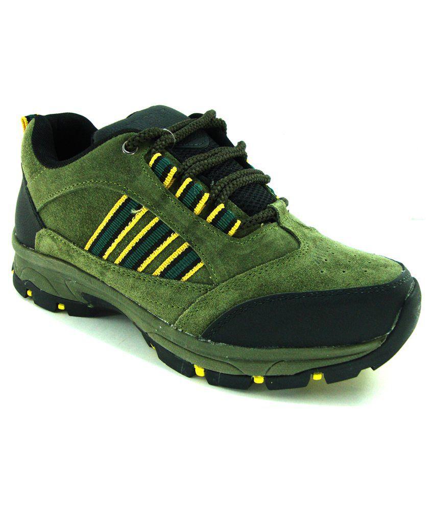 Jk Port Galbani Mehandi Leather Sports Shoes