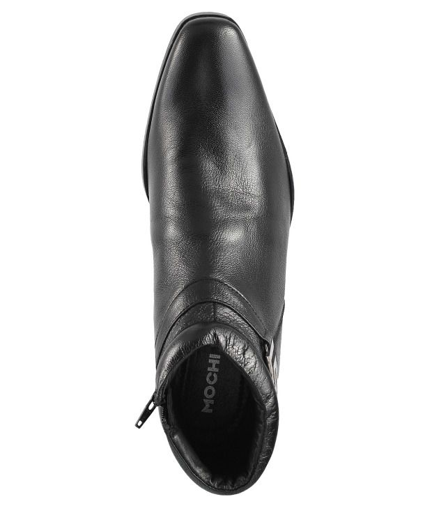 134c97cd55a Mochi Black Formal Shoes Price in India- Buy Mochi Black Formal ...