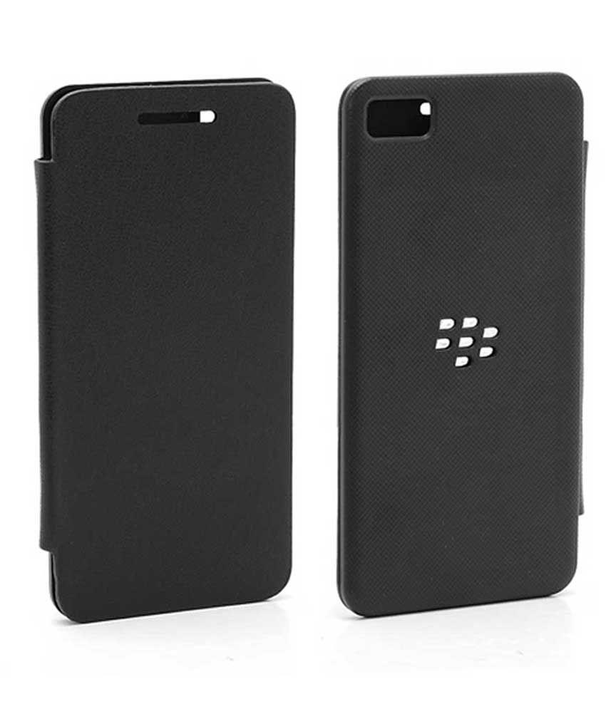 buy online df3fd 50f8b TBZ Flip Back Replace Cover Case -Black for BlackBerry Z10 / BB10