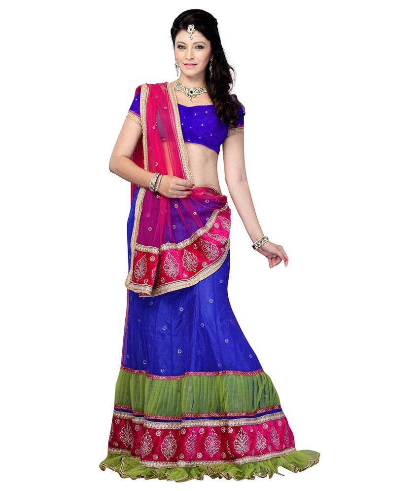 Diva Fashion Wedding Wear Designer Lehenga Choli Multi