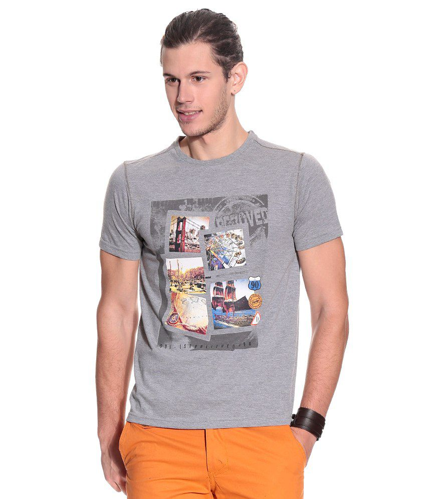 Duke Gray Cotton Blend  T-Shirt