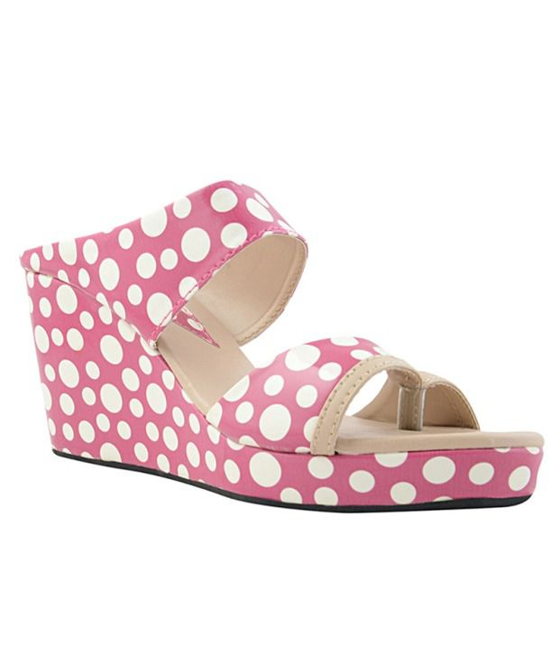 Yepme Pink Wedges Heeled Slip-On