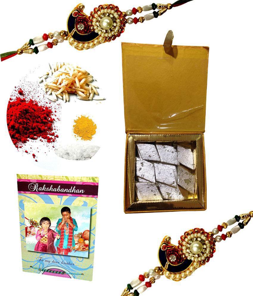 Fulltu Raksha Bandhan Set W Elegant Rakhi Tilak Kit Personalized