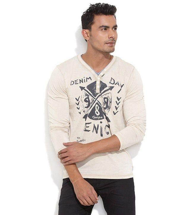 Inego Beige Cotton T-shirt