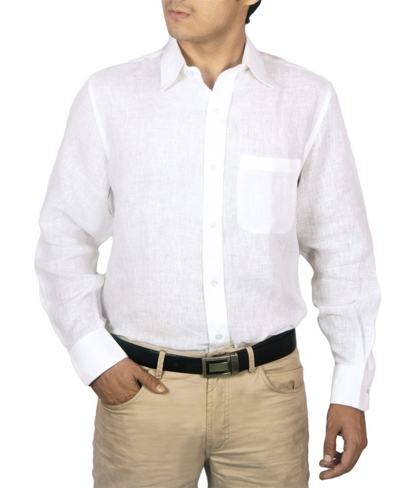 JAPs Premium White Linen Full Sleeve Shirt - Buy JAPs Premium ...