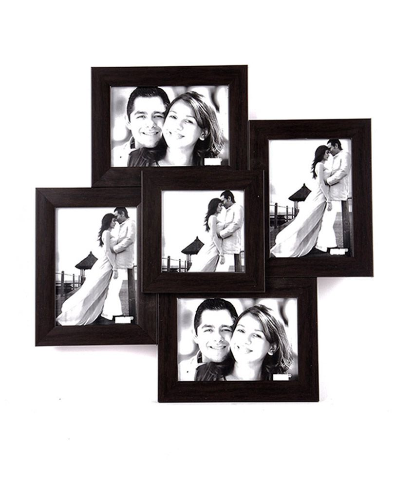 Wens Brown Mdf 5 Pictures Photo Frame Buy Wens Brown Mdf