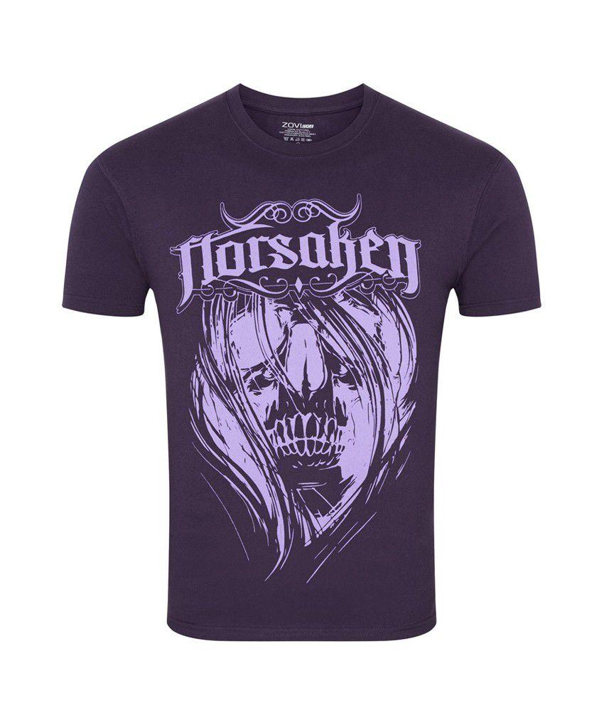 Zovi Forsaken Deep Purple Graphic T-shirt
