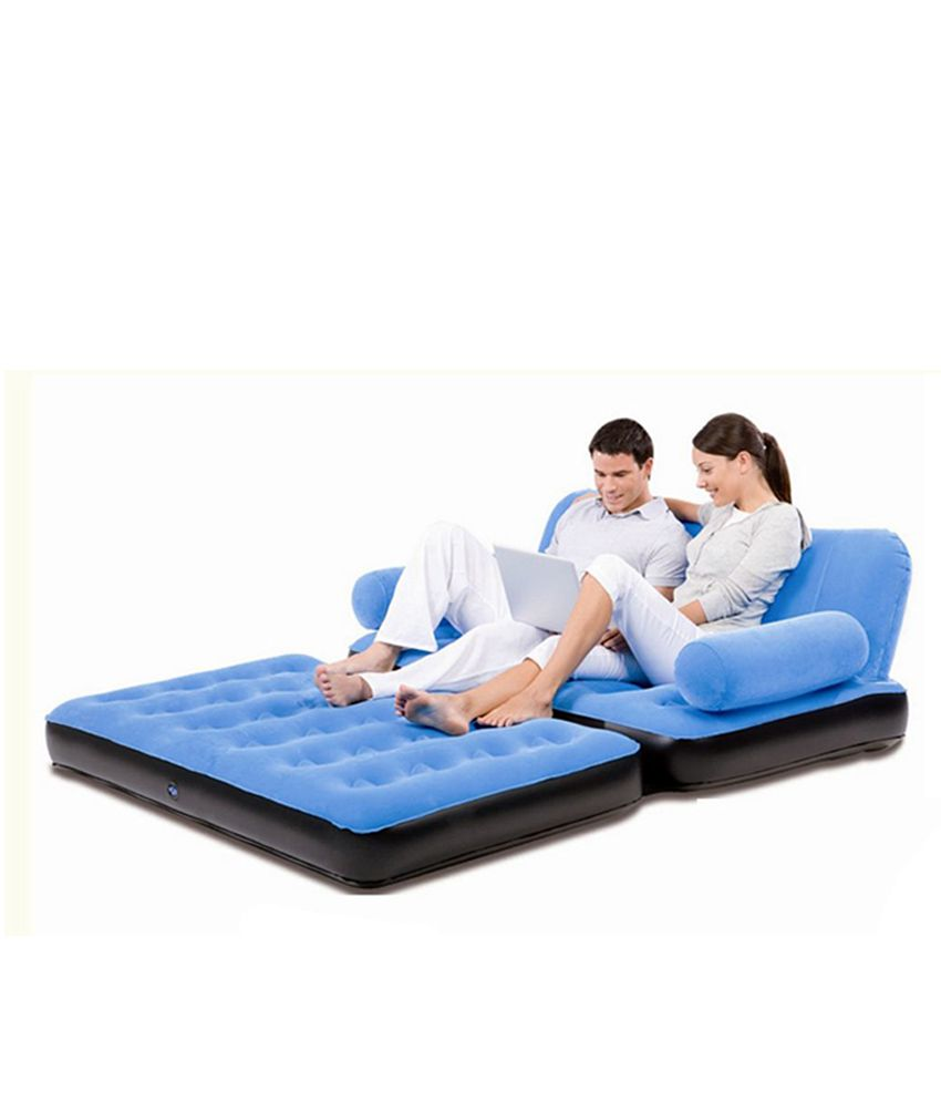 Double Velvet Sofa Cum Bed Air Lounge Inflatable Buy