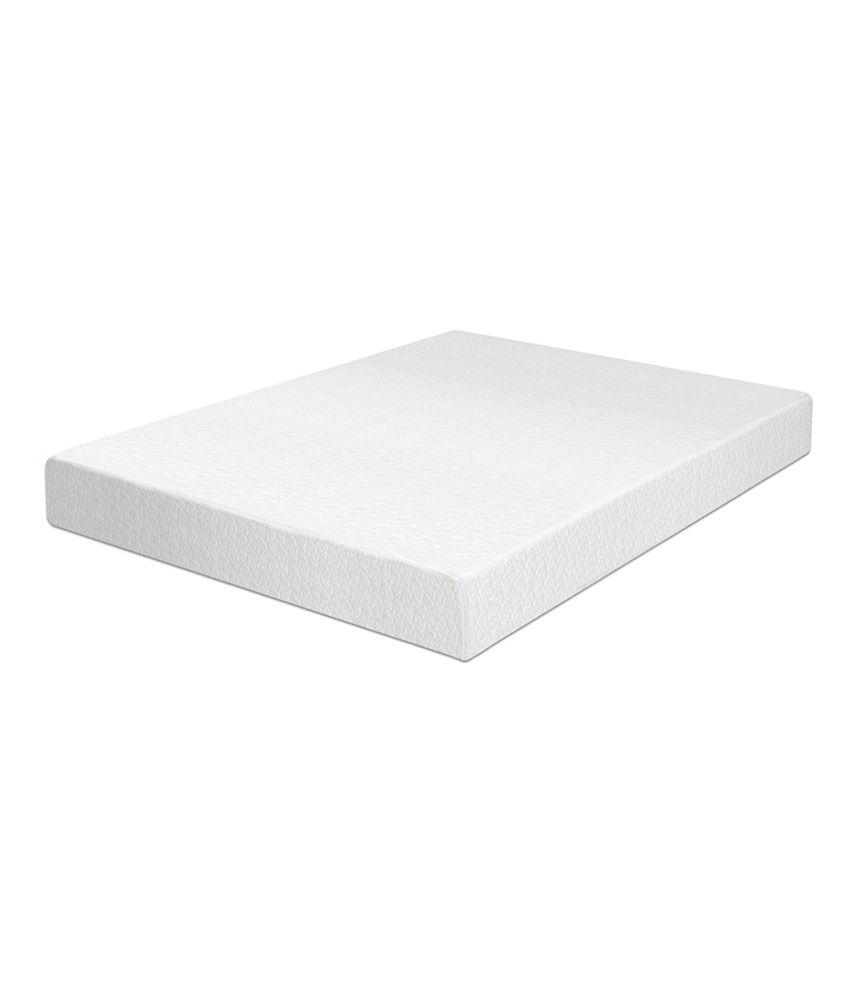Memory Foam Single Size White Single Size Plain Mattress 72x36x6 Inches Buy Memory Foam