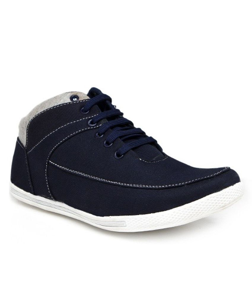 WONKER Blue Smart Casuals Shoes ...