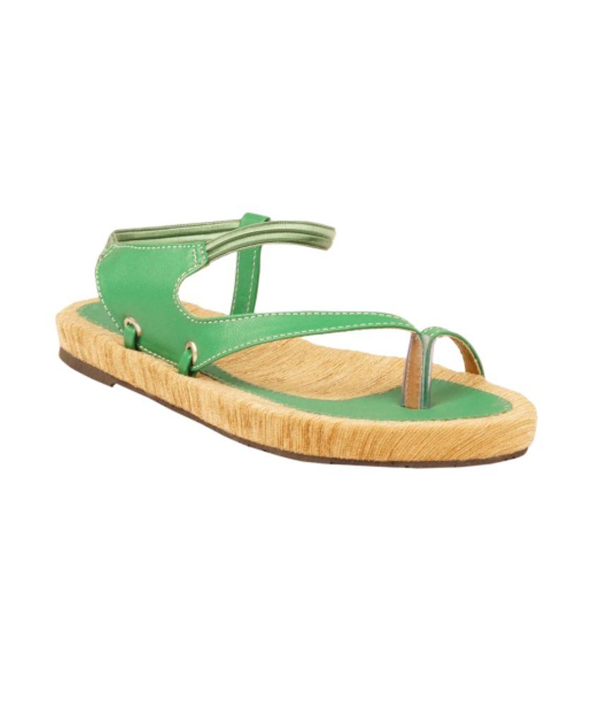 Zachho Green Sandal