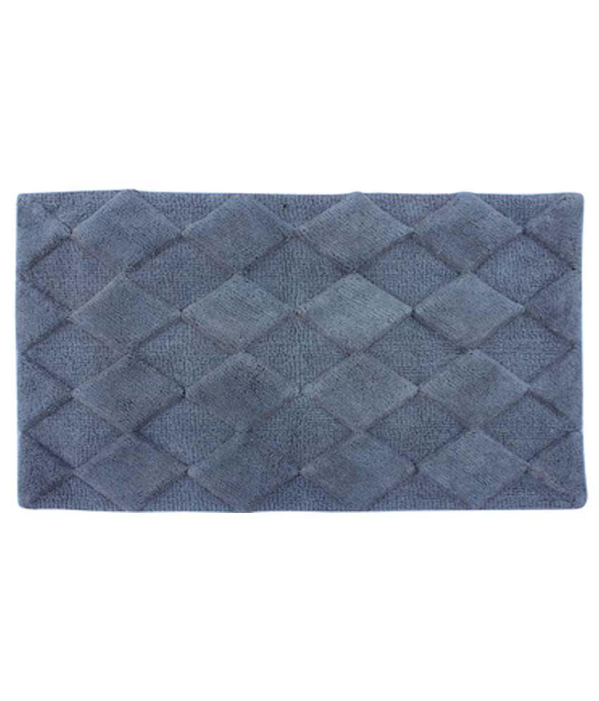 Azaani Diamond Grey Cotton Floor Mat