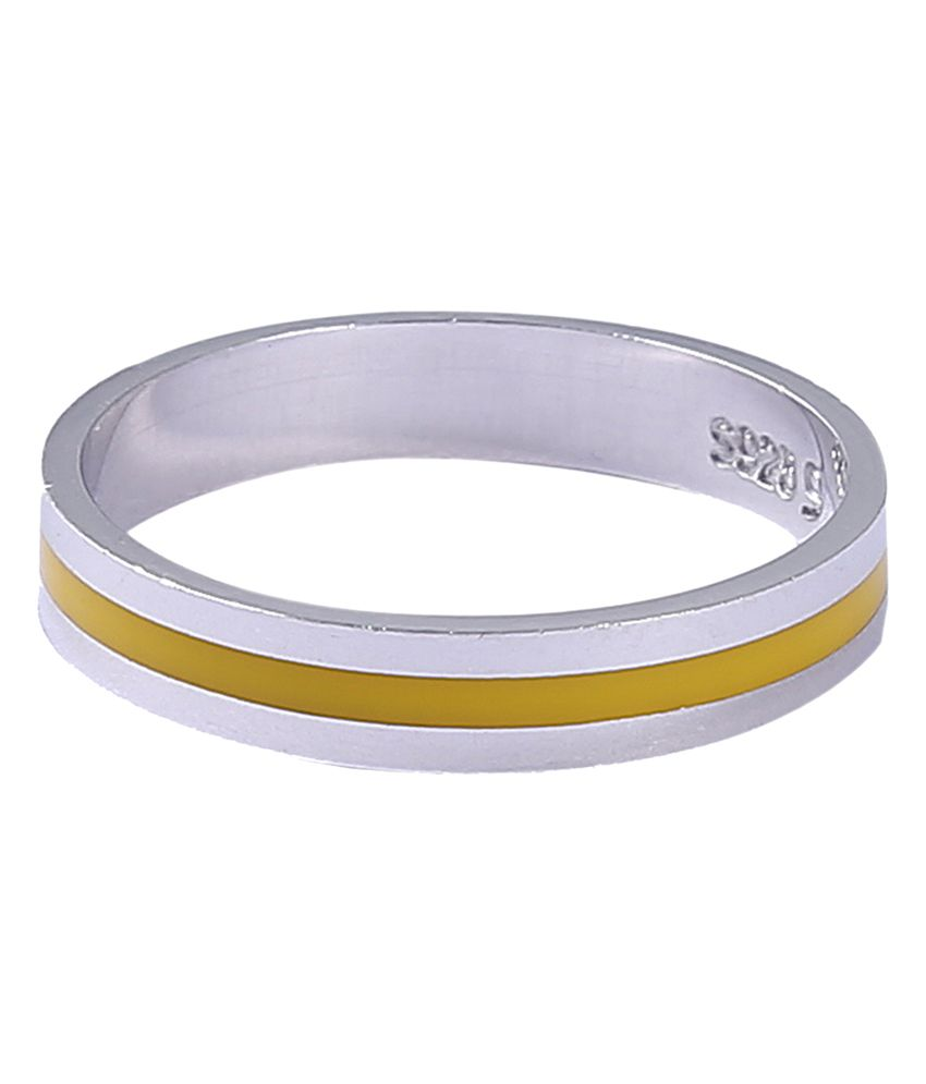 Jisha Simple & Stylish 92.5 Sterling Silver Band R