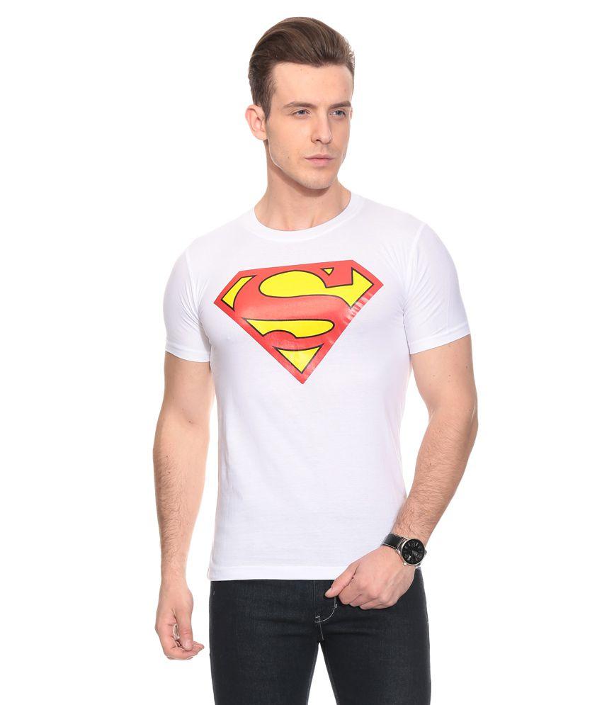 Fashion Enterprises White Cotton Blend T-shirt